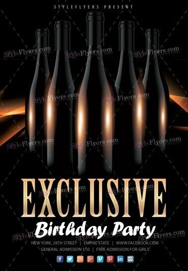 Exclusive Birthday Party PSD Flyer Template