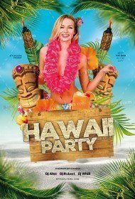 Hawaii Party PSD Flyer Template