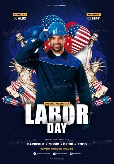 Labor Day PSD Flyer Template