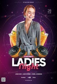 Ladies Night Club Party PSD Flyer Template