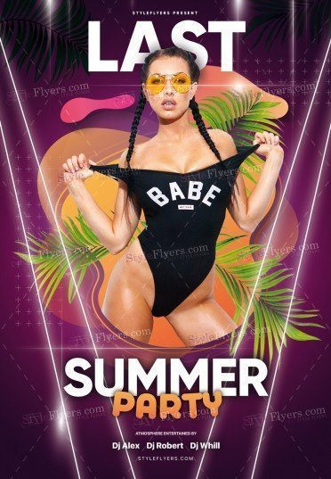 Last Summer Party PSD Flyer Template