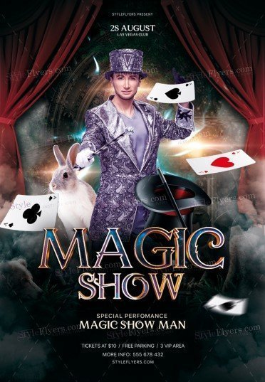Magic Show PSD Flyer Template