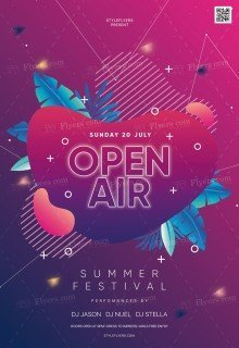 Open Air PSD Flyer Template