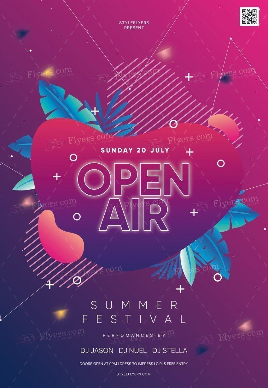 Open Air PSD Flyer Template