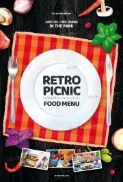 Retro-Picnic-Food-Menu_psd_flyer