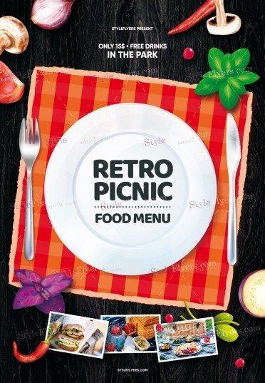 Retro-Picnic-Food-Menu_psd_flyer