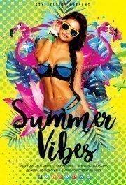 Summer Vibes PSD Flyer Template