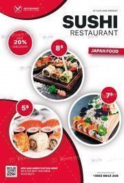 Sushi PSD Flyer Template