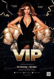 VIP_psd_flyer