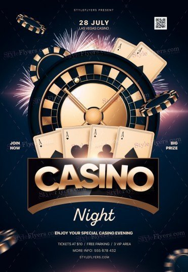 casino_psd_flyer