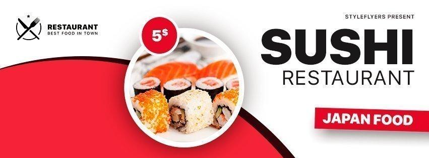 facebook_sushi_psd_flyer