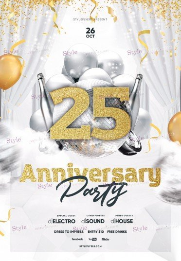 Anniversary Party PSD Flyer Template