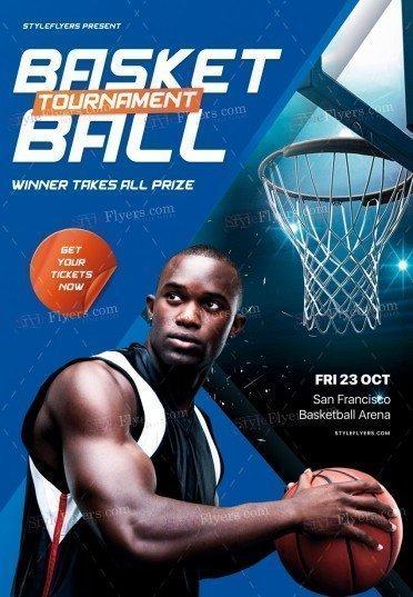 Basketball Tournament PSD Flyer