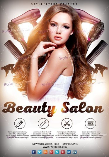 Beauty Salon PSD Flyer