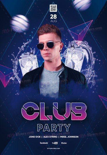 Club Party PSD Flyer Template