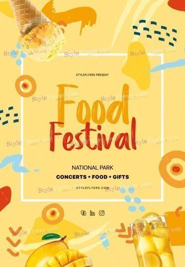 Food Festival PSD Flyer Template