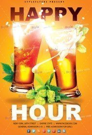 Happy Hour PSD Flyer Template