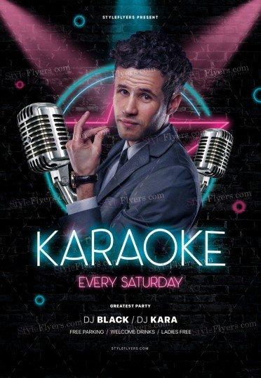 Karaoke_psd_flyer