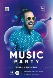 Music Party PSD Flyer Template