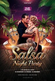 Salsa Night Party PSD Flyer Template