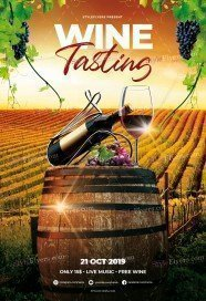 Wine Tasting PSD Flyer