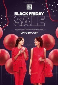 Black Friday Sale PSD Flyer Template