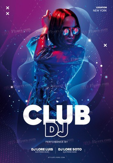 Club DJ PSD Flyer