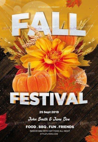 Fall Festival PSD Flyer Template