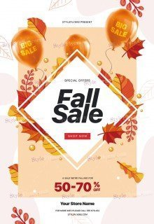 Fall Sale PSD Flyer Template