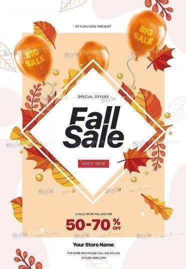 Fall Sale PSD Flyer Template