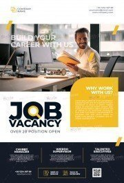 Job Vacancy PSD Flyer Template