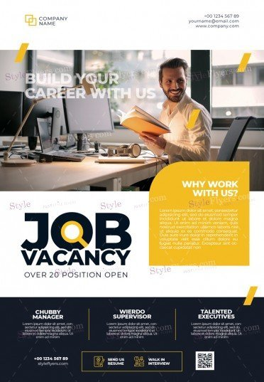 Job Vacancy PSD Flyer Template