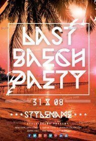 Last Beach Party PSD Flyer Template