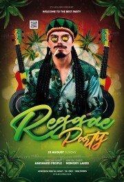 Reggae Partyl PSD Flyer Template