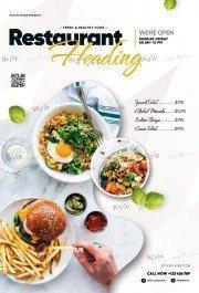 Restaurant PSD Flyer Template