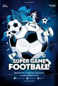 Super Game Football PSD Flyer Template