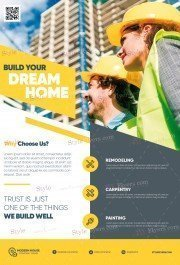 Construction PSD Flyer Template
