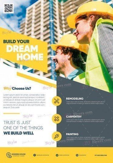 Construction PSD Flyer Template