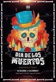 Dia-De-Los-Muertos_psd_flyer