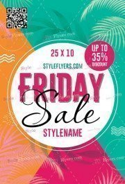 Friday Sale Flyer PSD Flyer Template