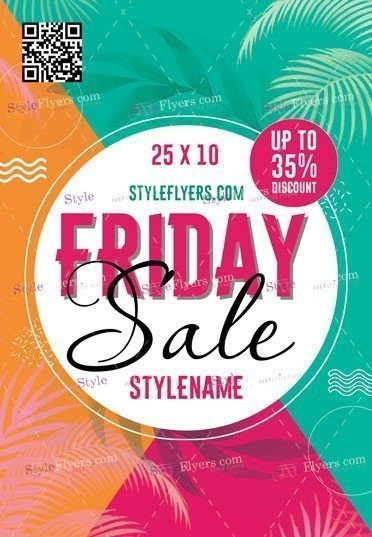 Friday Sale Flyer PSD Flyer Template