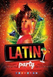 Latin Party PSD Flyer Template