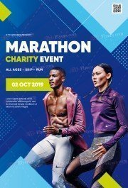 Marathon Charity Event PSD Flyer Template