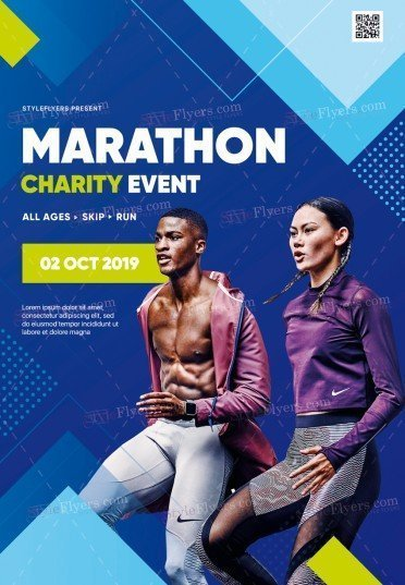 Marathon Charity Event PSD Flyer Template