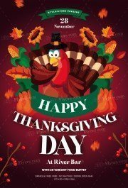 Thanksgiving Day PSD Flyer Template