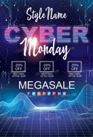 Сyber Monday PSD Flyer Template