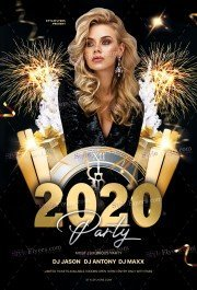 2020 Party PSD Flyer Template