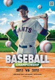 Baseball Championship PSD Flyer Template