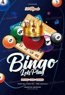 Bingo PSD Flyer Temlate
