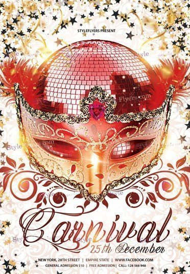 Carnival PSD Flyer Template